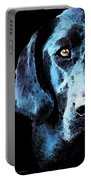 Black Labrador Retriever Dog Art - Hunter Portable Battery Charger by Sharon Cummings