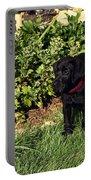 Black Labrador Retriever Puppy Portable Battery Charger