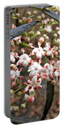 Black Lace Elderberry With Raindrops Portable Battery Charger
