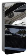 Black Lamborghini Sports Car  Portable Battery Charger