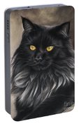 Black Maine Coon Portable Battery Charger
