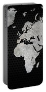 Black Metal Industrial World Map Portable Battery Charger