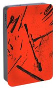Black On Red Portable Battery Charger