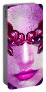 Black Orchid Eyes Portable Battery Charger