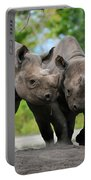 Black Rhinoceroses Portable Battery Charger