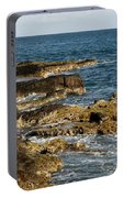 Black Rock Point And Sailboat Portable Battery Charger