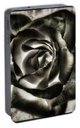 Black Rose. Symbol Of Farewells Portable Battery Charger