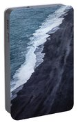 Black Sand Beach, Iceland Portable Battery Charger