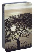 Black Silhouette Tree Portable Battery Charger