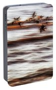 Black Skimmers Of Long Beach - Mississippi - Birds Portable Battery Charger