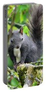 Black Squirrel In The Cherry Tree Portable Battery Charger