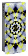 Black, White And Yellow Sunflower Portable Battery Charger
