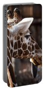 Black Tongue Of The Giraffe Portable Battery Charger