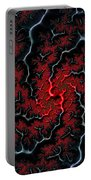 Black Veins Red Blood Abstract Fractal Art Portable Battery Charger