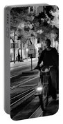 Black White Downtown Sj Trans Portable Battery Charger