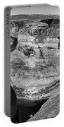 Black White Horseshoe Bend Arizona  Portable Battery Charger