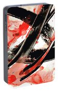 Black White Red Art - Tango - Sharon Cummings Portable Battery Charger