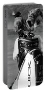 Black White Tiger Woods Bag Clubs  Portable Battery Charger