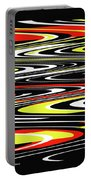 Black Yellow Red White Abstract Portable Battery Charger