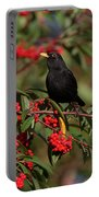 Blackbird Red Berries Portable Battery Charger