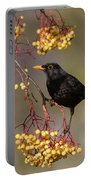 Blackbird Yellow Berries Portable Battery Charger