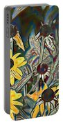 Blackeyed Susans Watercolor Portable Battery Charger