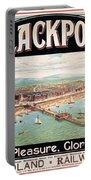 Blackpool, England - Retro Travel Advertising Poster - Seaside Resort - Vintage Poster Portable Battery Charger