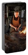 Blacksmith - Blacksmiths Like It Hot Portable Battery Charger by Mike Savad
