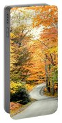 Blackwater Falls Autumn Road Portable Battery Charger