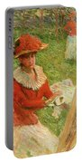 Blanche Hoschede Painting Portable Battery Charger