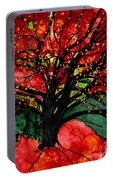 Blazing Red Orange Autumn Tree Portable Battery Charger