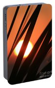 Blazing Sunset And Grasses Portable Battery Charger