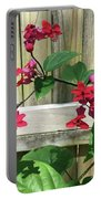 Bleeding Heart Clerodendrum 2 Portable Battery Charger