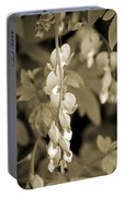 Bleeding Hearts In Sepia Portable Battery Charger