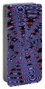 Blue Black Red Abstract Portable Battery Charger