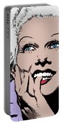 Blond Bombshell Portable Battery Charger