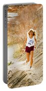 Blond Woman Trail Runner Portable Battery Charger
