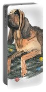 Blood Hound Christmas Portable Battery Charger