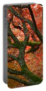Blood Red Autumn Tree Portable Battery Charger