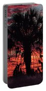 Blood Red Sunset Palm Portable Battery Charger