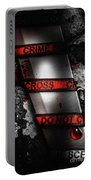Bloody Knife Wrapped In Red Crime Scene Ribbon Portable Battery Charger