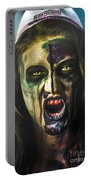 Bloody Zombie Nurse Screaming Out In Insanity Portable Battery Charger