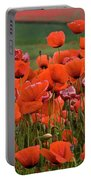 Bloom Red Poppy Field Portable Battery Charger