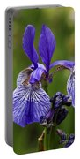 Blooming Purple Iris Portable Battery Charger