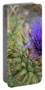 Blooming Purple Teasel Portable Battery Charger
