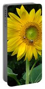 Blooming Sunflower Closeup Portable Battery Charger