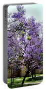 Blooming Tree With Purple Flowers Portable Battery Charger