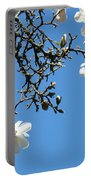 Blooming Trees Art Print White Magnolia Flowers Baslee Troutman Portable Battery Charger