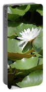Blooming Waterlily  Portable Battery Charger