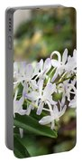 Blooming White Flower Spike Portable Battery Charger